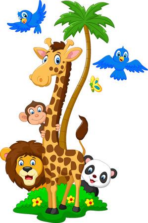 animales silvestres: Reba�os de animales de dibujos animados
