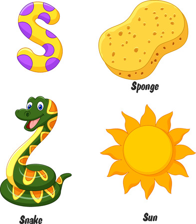 smile cartoon: S alphabet cartoon