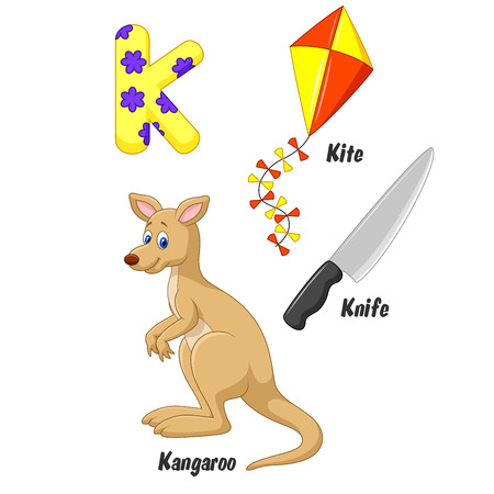 alphabet cartoon: K alphabet cartoon