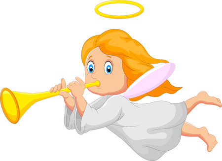 angel girl: Cartoon cute angel