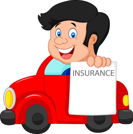 notify: Cartoon little boy notify to join insurance Illustration