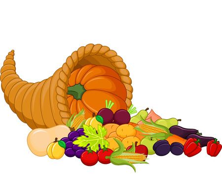 Cartoon Harvest cornucopia