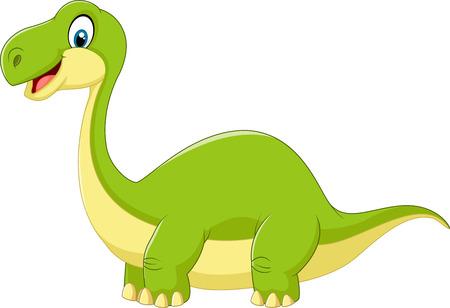 cute dinosaur: Lindo dinosaurio de la historieta Vectores