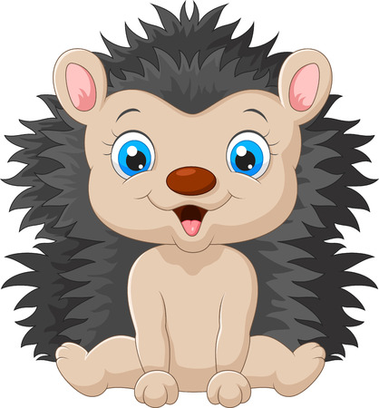 hedgehog: Cute cartoon hedgehog child Illustration