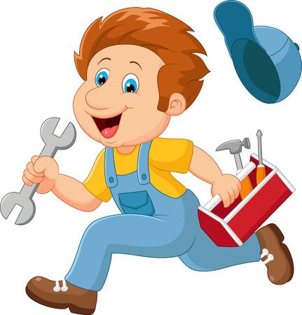mechanical men: Cartoon a mechanic