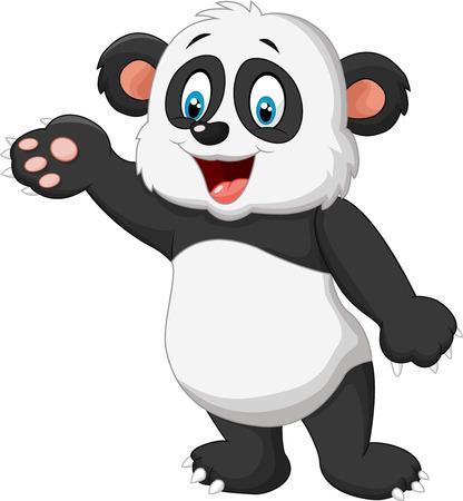 oso panda: Presentaci�n de la panda de la historieta Vectores