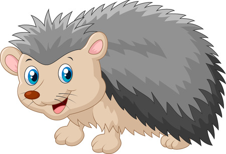 Hedgehog cartoon was looking to the side Иллюстрация