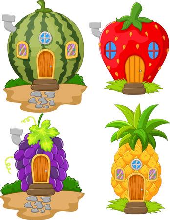 Cartoon verscheidenheid van thuis fruit