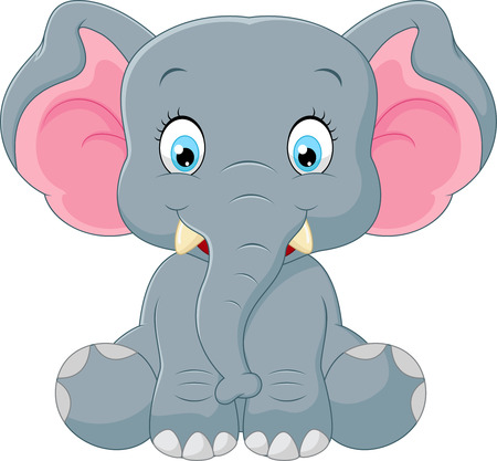 cute elephant: Cute elephant cartoon Illustration