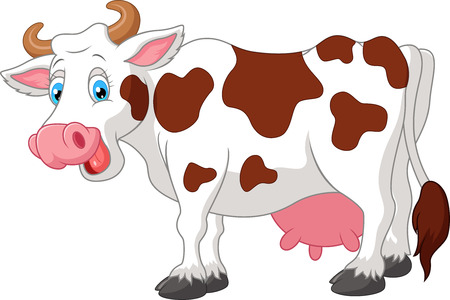 cow vector: Happy cartoon cow