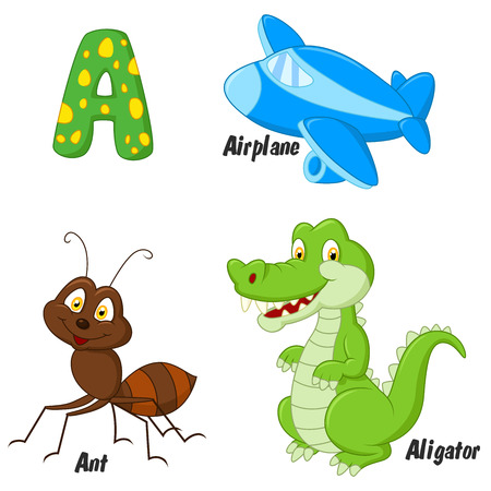 cartoon ant: Cartoon A alphabet