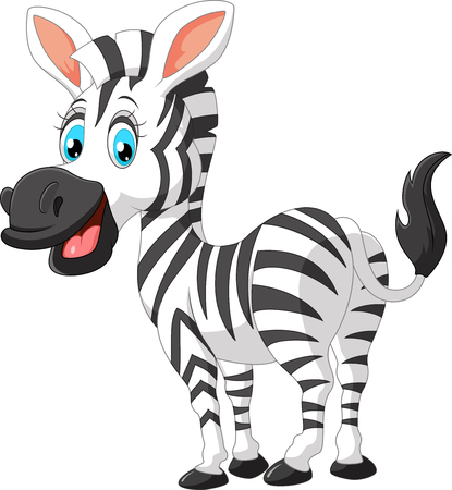 ass fun: Cartoon cute zebra Stock Photo