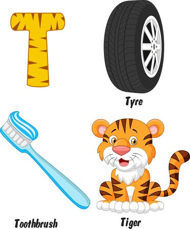 alphabet cartoon: T alphabet cartoon