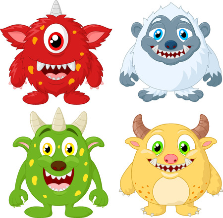 humour: Cartoon monster collection set
