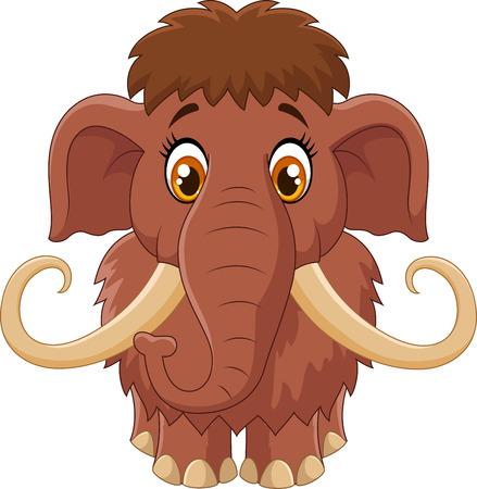 mammoth: Cartoon cute mammoth