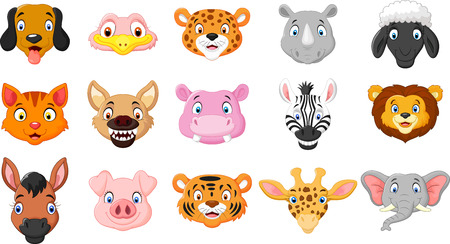cartoon hippo: Cartoon of animals