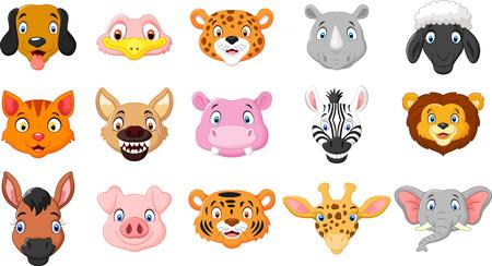 hipopotamo caricatura: De dibujos animados de animales Vectores