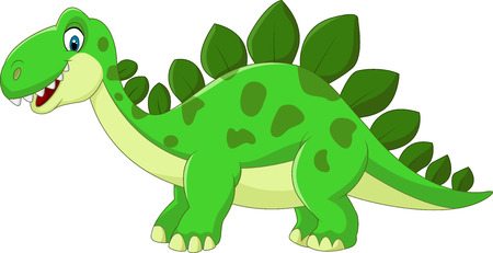 cartoon mascot: Cartoon Stegosaurus Dinosaur