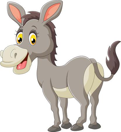 Cartoon donkey happy 일러스트