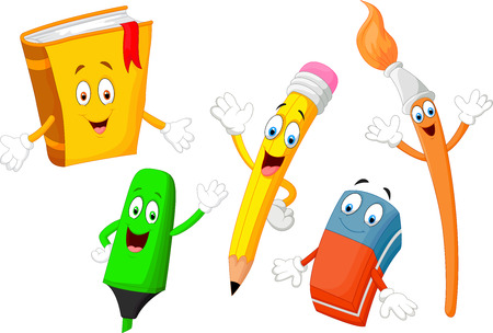 erasers: Cute cartoon stationery child