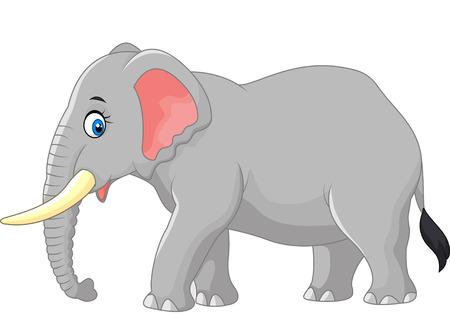 tusk: Cartoon large elephant