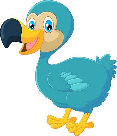 dodo: Cartoon dodo bird Illustration