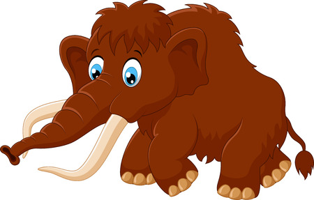 woolly: Cute mammoth cartoon Illustration