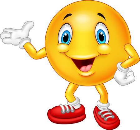 Cartoon emoticon waving hand