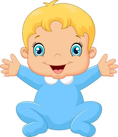 comic baby: Cartoon happy baby boy