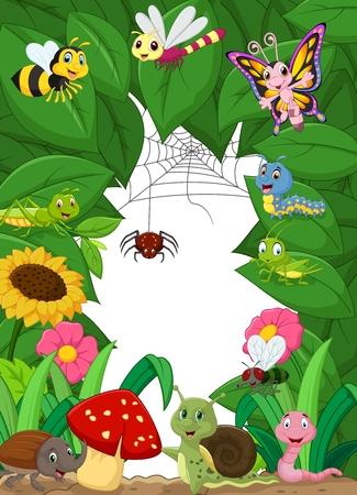 flor caricatura: Poco felices animales de la historieta Vectores