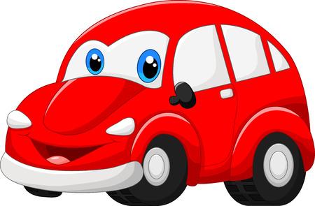 漫画の赤い車
