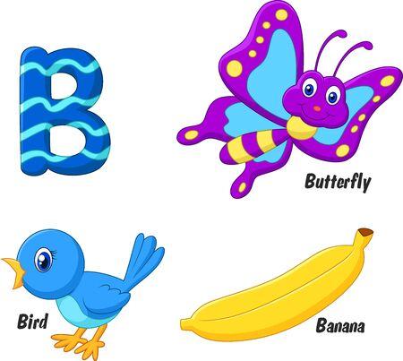 aves caricatura: Historieta B del alfabeto