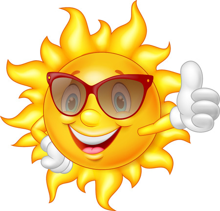 recommendation: Cartoon sun giving thumb up
