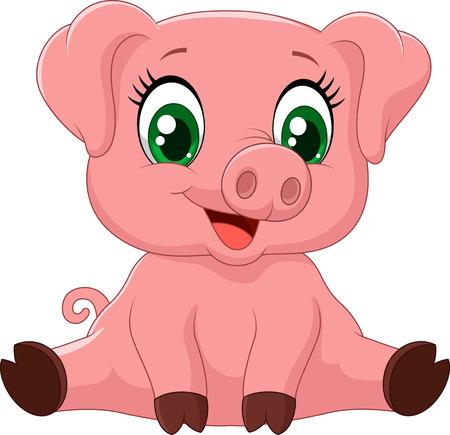 cochinitos: Historieta adorable cerdo del bebé