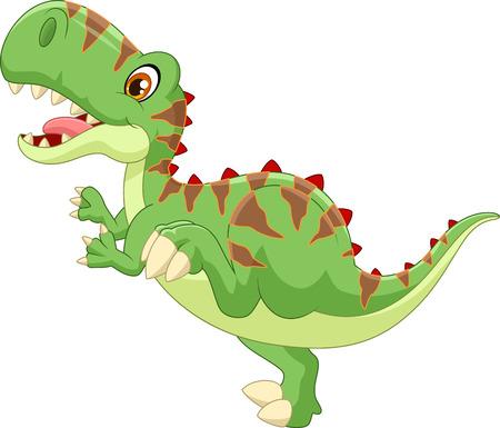 carnivores: Cute tyrannosaurus cartoon
