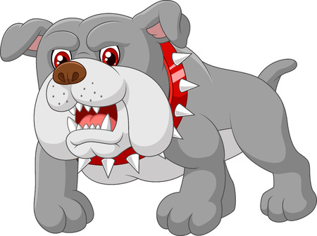 angry dog: Casa de perro guardián de la historieta
