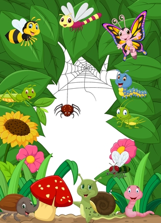 bugs: Cartoon happy little animals