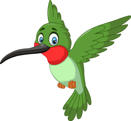 Cartoon cute small bird