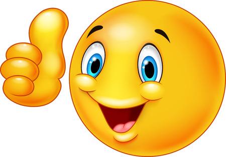Glücklicher smiley Emoticon geben Daumen nach oben Standard-Bild - 44232896