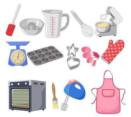 cake mixer: Cartoon collection for the baking