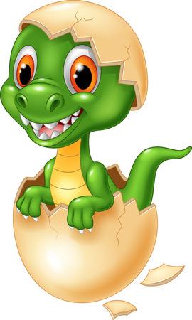 huevo caricatura: lindo cocodrilo bebé Vectores