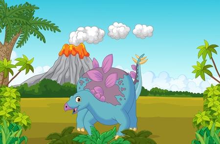 dinosauro: Cartoon simpatico dinosauro