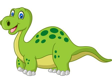 dinosauro: Cartoon felice di dinosauro