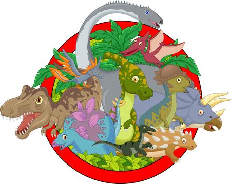 dinosauro: Collezione carattere dinosauro Vettoriali