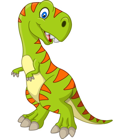 cute dinosaur: Cartoon happy dinosaur