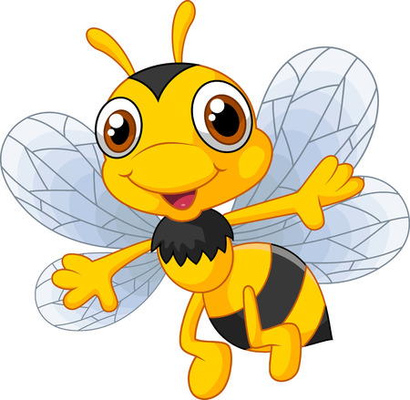 cartoon animal: Cartoon cute bees