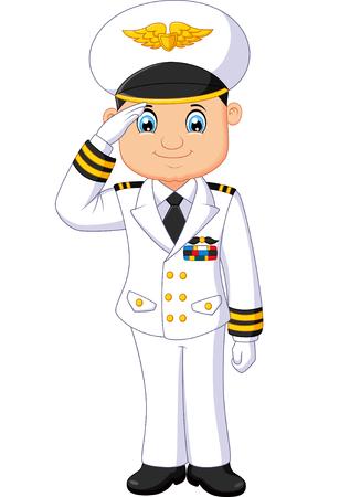 male pilot cartoon  イラスト・ベクター素材