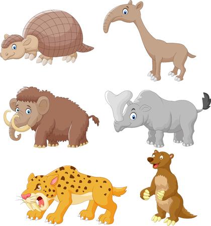saber tooth: Cartoon animal collection set