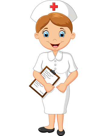 nurse cartoon Иллюстрация