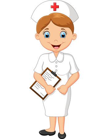 nurse uniform: nurse cartoon Illustration